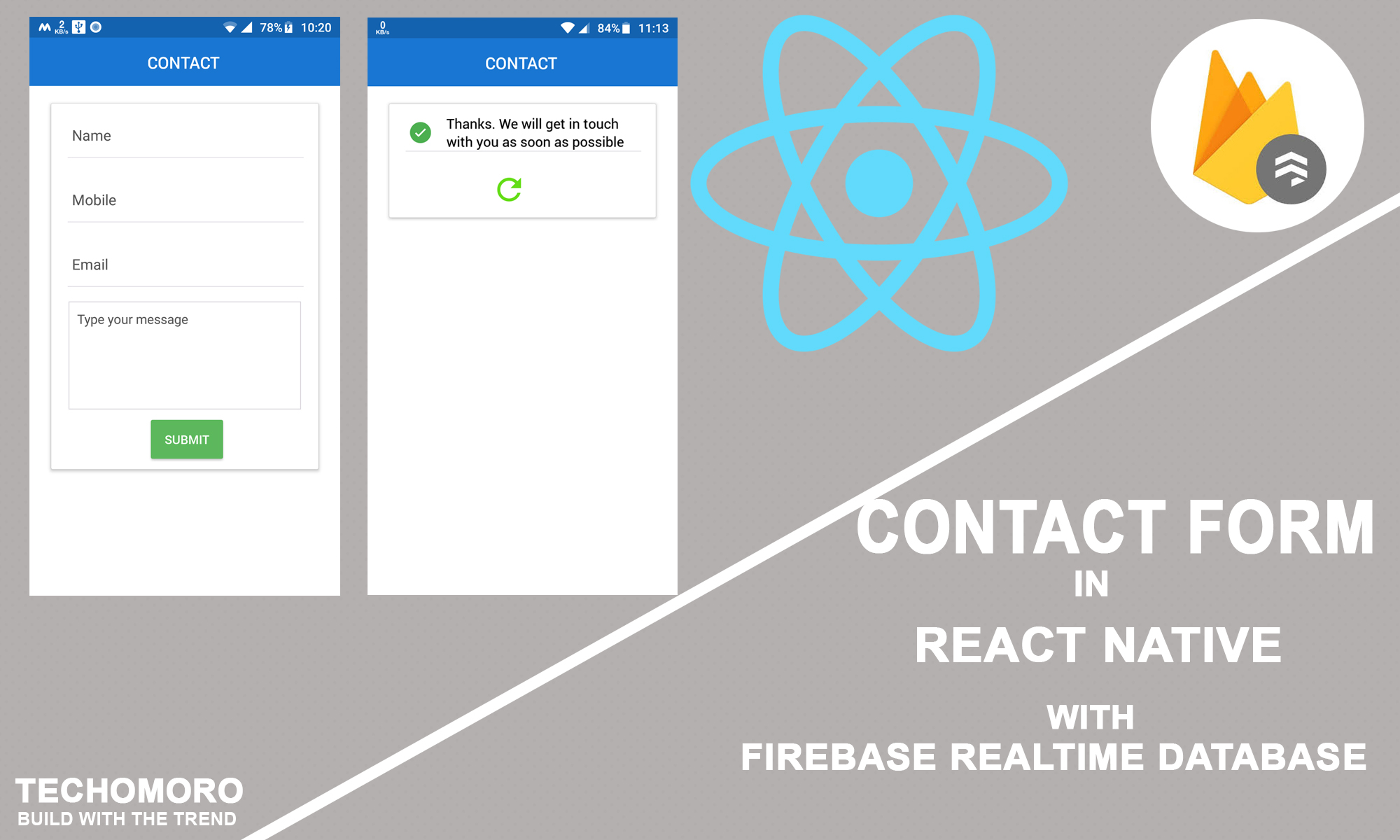 How to Create a Simple Contact Form in React Native with Firebase Realtime Database